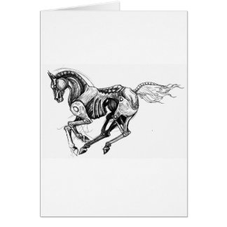 Iron Horse Greeting Card