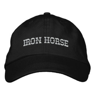 IRON HORSE HAT EMBROIDERED BASEBALL CAP
