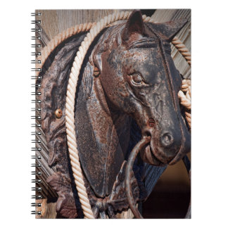 Iron Horse Hitching Post and Rope Note Book