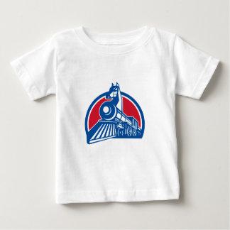 Iron Horse Locomotive Circle Retro Baby T-Shirt