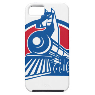 Iron Horse Locomotive Circle Retro iPhone 5 Case