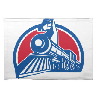 Iron Horse Locomotive Circle Retro Placemat
