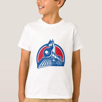 Iron Horse Locomotive Circle Retro T-Shirt