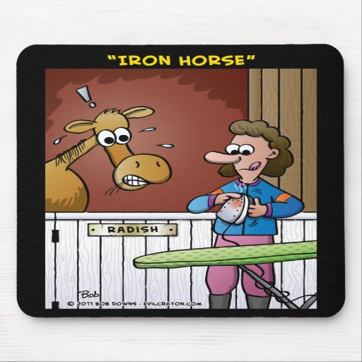 """""""Iron Horse"""" Mouse Pads"""