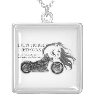 Iron Horse Network Sterling Silver Plate Necklace