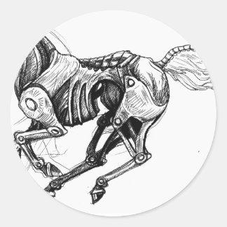 Iron Horse Round Sticker
