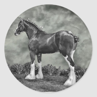 Iron Horse Steele Round Sticker