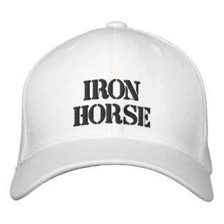 IRON HORSE WHITE HAT EMBROIDERED BASEBALL CAPS