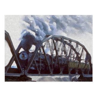 Iron Horses & Iron Bridges Postcard