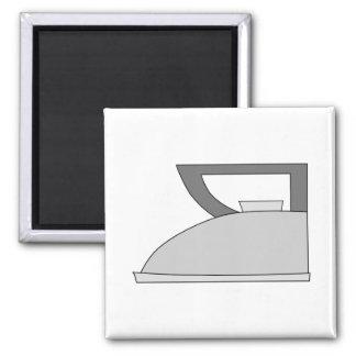 Iron illustration Gray and Black on White Refrigerator Magnet