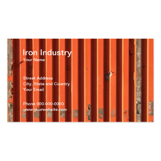 Iron Industry Business Card Business Card