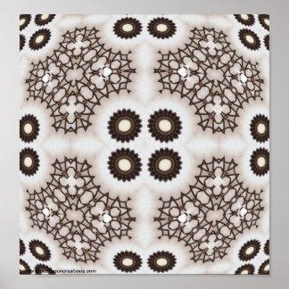 Iron Lace Kaleidoscope Mandala Poster