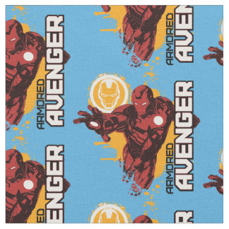 Iron Man Armored Avenger Graphic Fabric