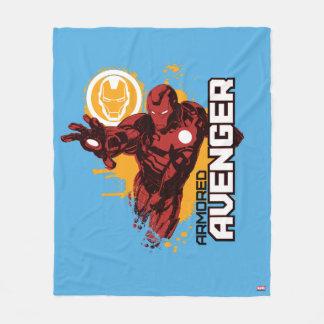Iron Man Armored Avenger Graphic Fleece Blanket