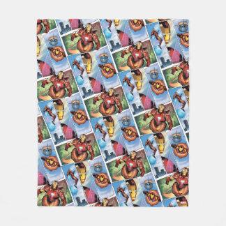 Iron Man Comic Panels Fleece Blanket