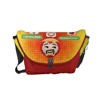 Iron Man Emoji Messenger Bag