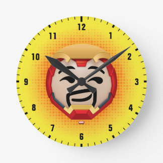 Iron Man Emoji Round Clock
