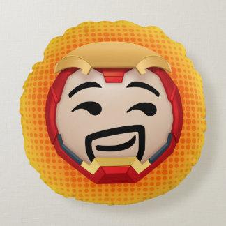 Iron Man Emoji Round Cushion