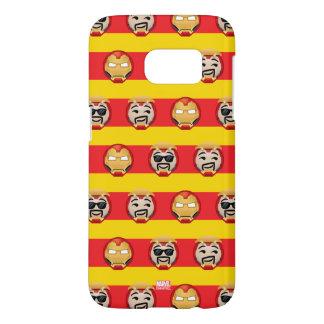 Iron Man Emoji Stripe Pattern