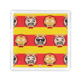 Iron Man Emoji Stripe Pattern Acrylic Tray