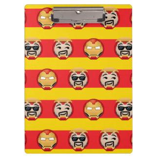 Iron Man Emoji Stripe Pattern Clipboard