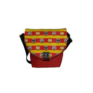 Iron Man Emoji Stripe Pattern Courier Bags
