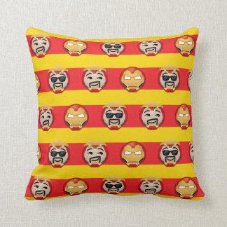 Iron Man Emoji Stripe Pattern Cushion