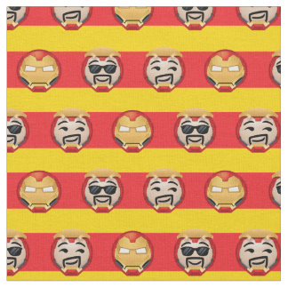 Iron Man Emoji Stripe Pattern Fabric