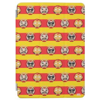Iron Man Emoji Stripe Pattern iPad Air Cover