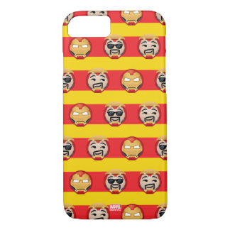 Iron Man Emoji Stripe Pattern iPhone 8/7 Case