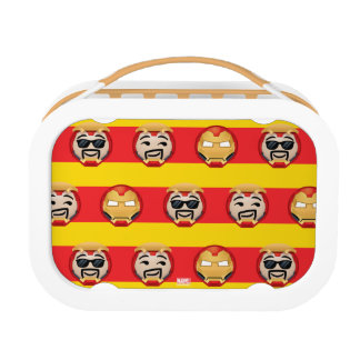 Iron Man Emoji Stripe Pattern Lunch Box