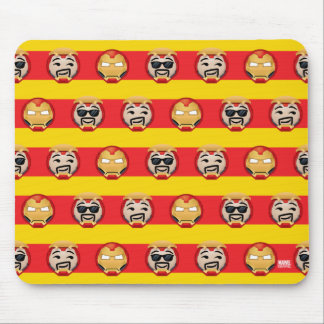 Iron Man Emoji Stripe Pattern Mouse Pad