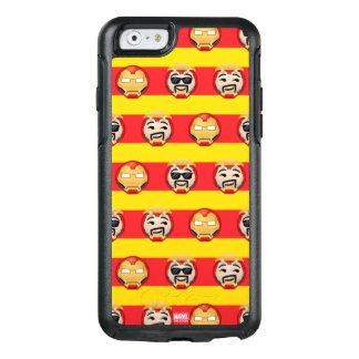 Iron Man Emoji Stripe Pattern OtterBox iPhone 6/6s Case