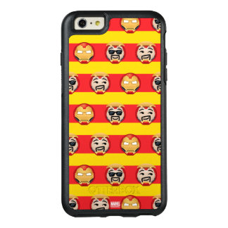 Iron Man Emoji Stripe Pattern OtterBox iPhone 6/6s Plus Case