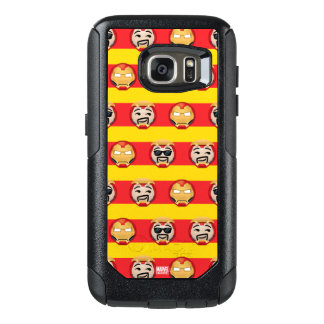 Iron Man Emoji Stripe Pattern OtterBox Samsung Galaxy S7 Case