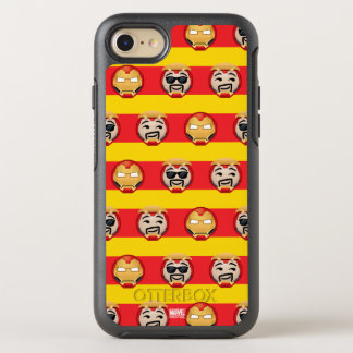 Iron Man Emoji Stripe Pattern OtterBox Symmetry iPhone 8/7 Case