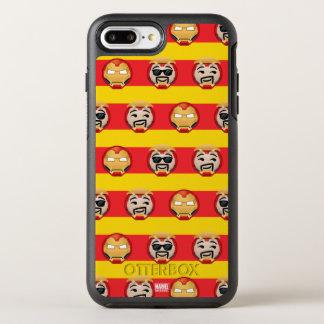 Iron Man Emoji Stripe Pattern OtterBox Symmetry iPhone 8 Plus/7 Plus Case