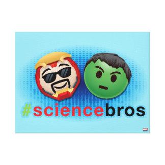 Iron Man & Hulk #sciencebros Emoji Canvas Print