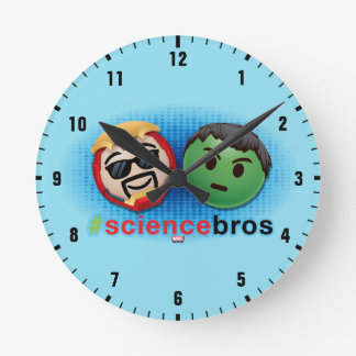 Iron Man & Hulk #sciencebros Emoji Round Clock