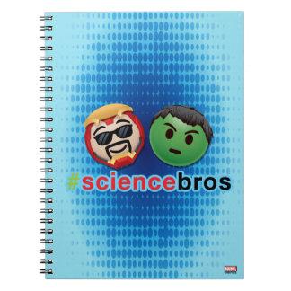 Iron Man & Hulk #sciencebros Emoji Spiral Notebook