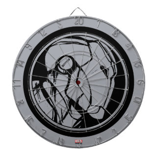 Iron Man Profile Logo Dartboard