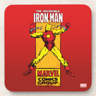 Iron Man Retro Breaking Chains Comic Coasters