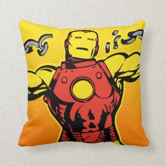 Iron Man Retro Breaking Chains Cushion