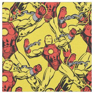 Iron Man Retro Breaking Chains Fabric