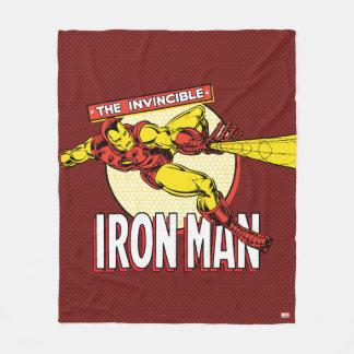 Iron Man Retro Character Graphic Fleece Blanket