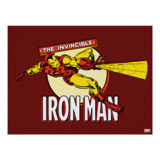 Iron Man Retro Character Graphic Poster