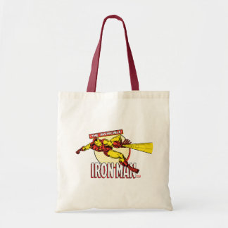 Iron Man Retro Character Graphic Tote Bag