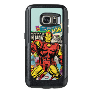 Iron Man Retro Comic Collage OtterBox Samsung Galaxy S7 Case