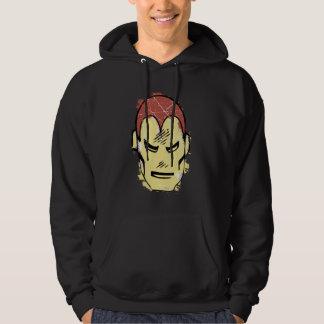 Iron Man Retro Comic Halftone Head Hoodie