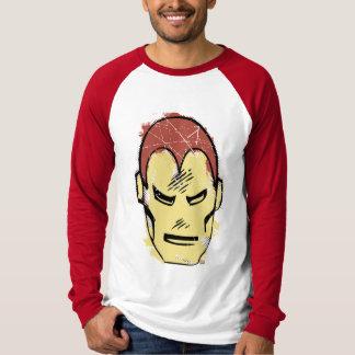 Iron Man Retro Comic Halftone Head T-Shirt